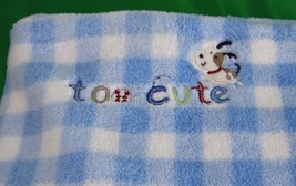 Carters Just One Year Blanket Too Cute Puppy Do... - $22.12