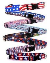 Patriotic Breakaway Safety CAT Collars * 12 Designs * American July 4th ... - $9.99