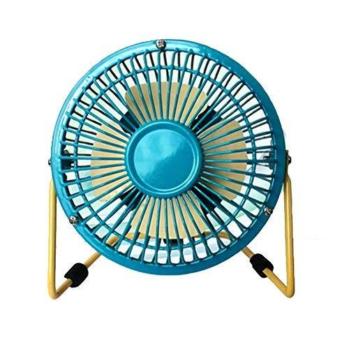 Mini Fan,Portable Fan, USB Fan, Desktop Fan(Blue and Yellow,4INCH)