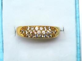Elegant simulated diamond 24k gold filled wedding ring proposal marry ring - $768,04 MXN
