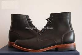 Handmade men Black ankle boots Men good year welted sole ankle leather boot - $179.99