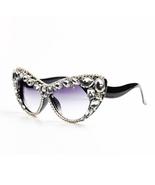 Oversized Cat Eye Sunglasses Women Brand Designer Luxury Crystal Glasses... - $28.99