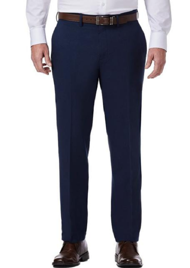 Primary image for Kenneth Cole Reaction Mens TECHNI-COLE Slim Fit Pants, Navy, 37x32