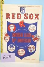 1951 Boston Red Sox Baseball Program Scorecard vs Athletics Unscored - $28.71