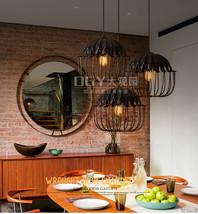 Retro Birdcage Pendant E27 Light Antique Rust Ceiling Lamp Loft Lighting Fixture - $86.85