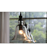 Vintage Bell Clear Glass Pendant Hanging Ceiling lamp - Wind Chime Style - $55.90
