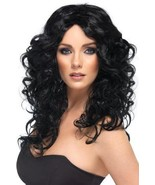 Black Long Curly Wig Female One Size New Womens Hair Long Black Wig Movi... - £24.92 GBP