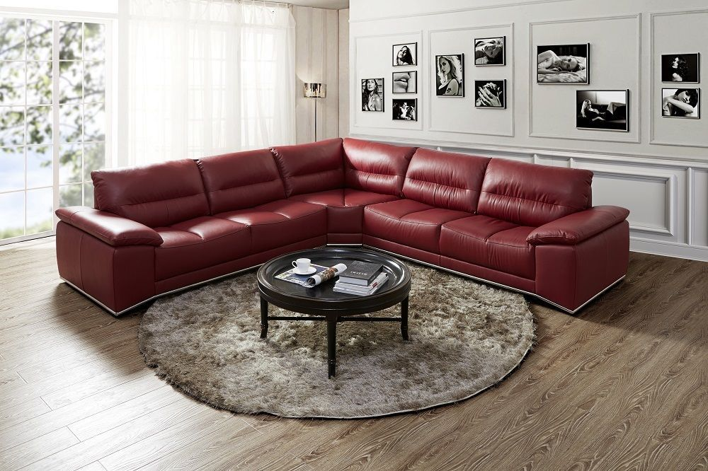 J&M Valentino Italian Leather Sectional sofa chic contemporary Modern