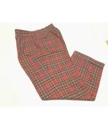 Paul Fredrick Men's Golfer Vintage 100% Wool Plaid Black Red White Golf ... - $44.50