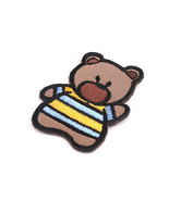 Stripe Bear (B) Embroidered Vintage Collectible Patch Badge Emblem - $10.99