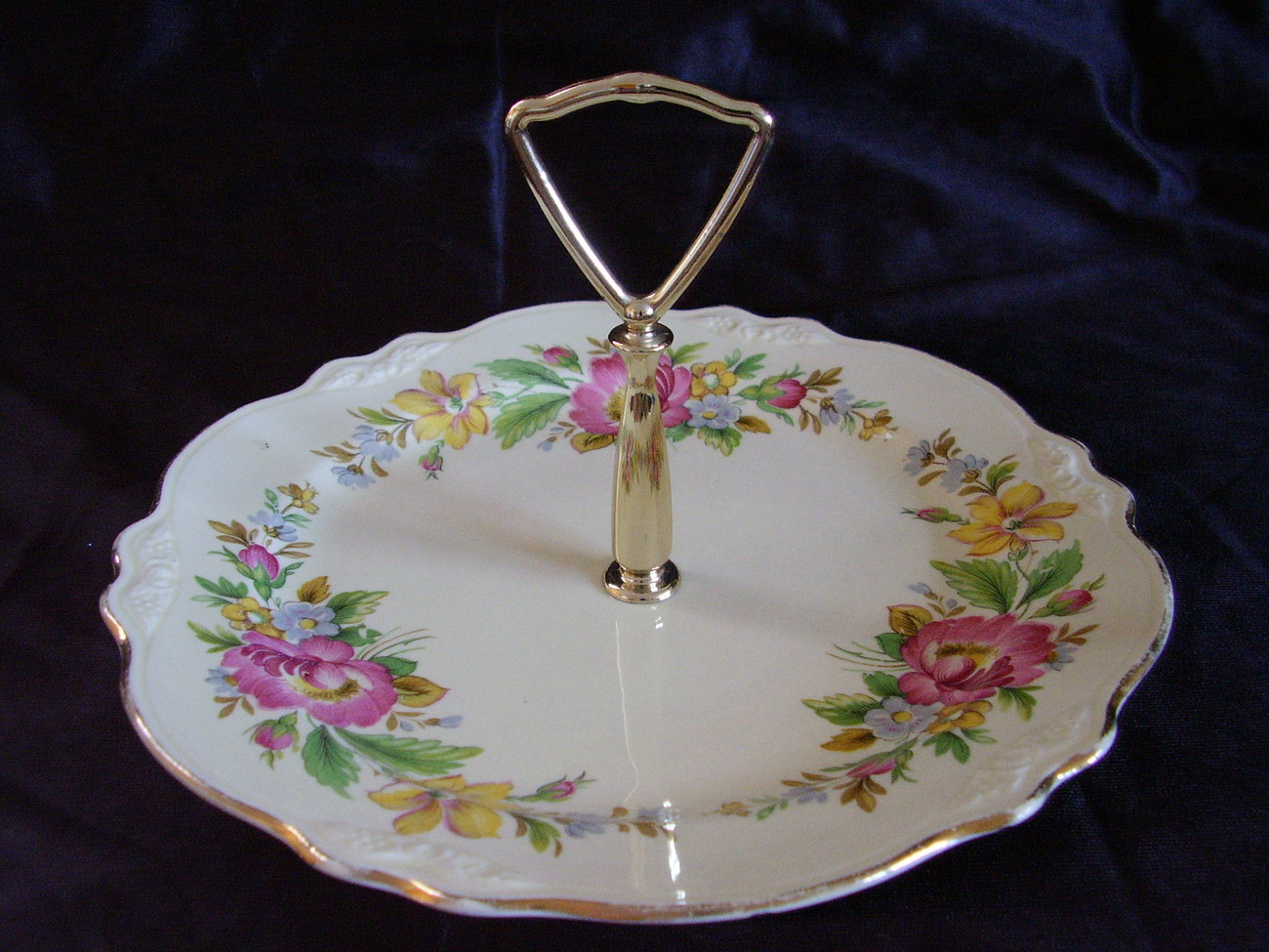 Primary image for Vintage Laughlin Virginia Rose CAC 186 Tidbit Tray