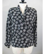 Liz Claiborne Black And White Blouse Size 12 New - $23.00
