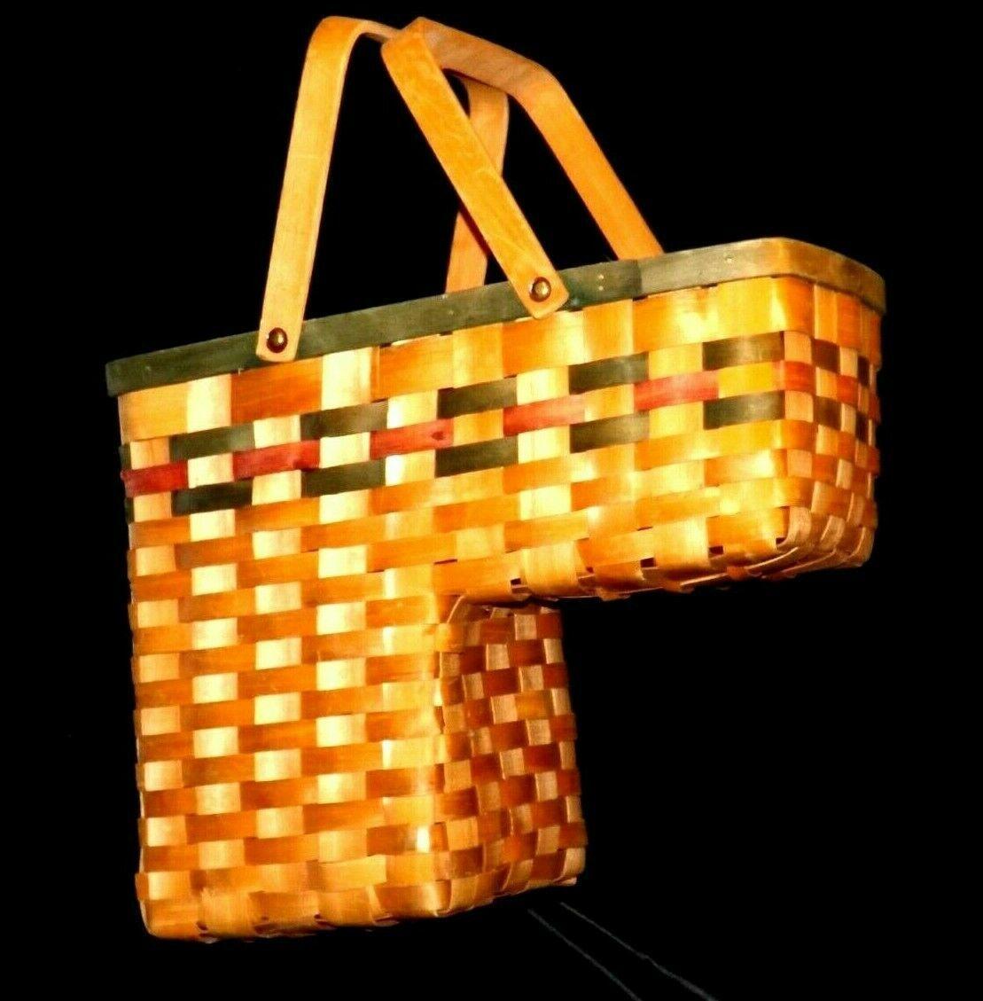 Double Handled Swing Basket Handmade AA19-1577 Vintage