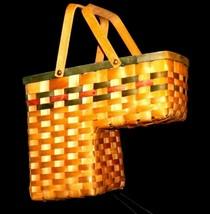 Double Handled Swing Basket Handmade AA19-1577 Vintage image 1