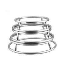 stainless steel tube pot rack kitchen storage rack round anti-hot frying... - $14.28+