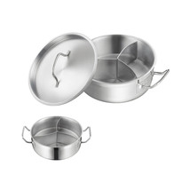 Stainless steel Three-flavor Hot Pot with Sandwich Bottom (03 style)   180*85 - $54.28+