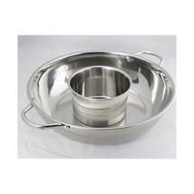 Thick stainless steel pot ears pot home fondue pots clear mother fondue pot soup - $20.51+