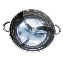 fondue pot duck pot with a lid shamisen lamb 3 three grid Cooker dedicat... - $37.99+