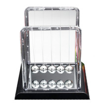 Colorful Plastic Square Newton's Cradle Home Tableware   middle white - £10.93 GBP
