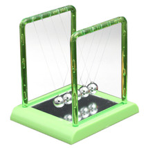 Colorful Plastic Square Newton's Cradle Home Tableware   big green - £16.40 GBP