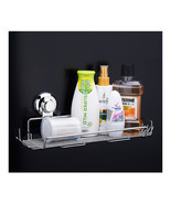 Steel Bathroom Storage Basket Vacuum Suction Cup Hook Holder Organizer - £20.21 GBP