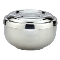 double bowl stainless steel bowl with lid lidded bowl bowl cute Korean r... - $15.19