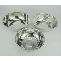 three-piece stainless steel  Wash rice sieve Wash rice and vegetables basin - $28.49