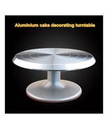 Cake Decorating Taiwan turntable turntable 10-inch aluminum alloy skid c... - $66.49