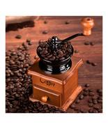 Vintage Manual Hand Crank Wooden Metal Coffee Pepper Herb Mill Spice Gri... - $18.99