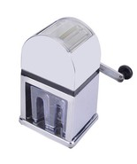 Manual Ice Crusher Shaver Maker Machine  Zinc Alloy Shell Chrome Plated - $61.74