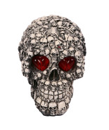 Tricky Toys Resin Glittery Skull Statue Human Skeleton Halloween - £21.71 GBP