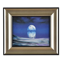 3D Artisitc Moving Sand Glass Art Picture Frame Wall Hanging    moon in ... - $113.04