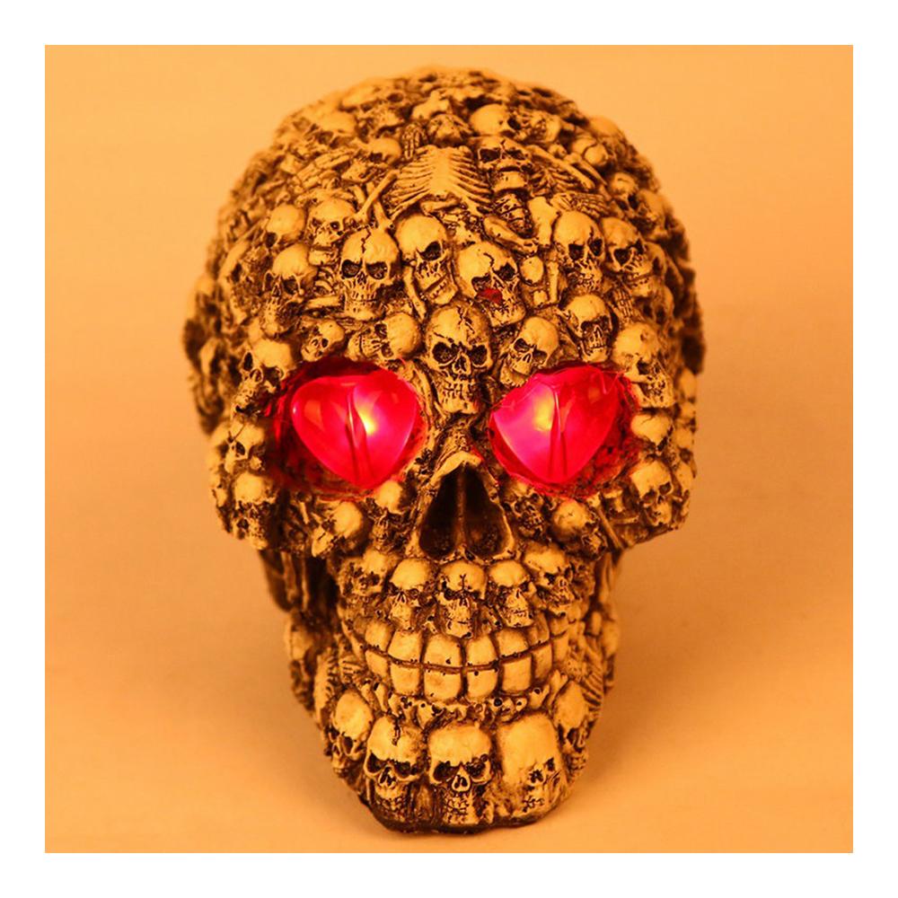 Tricky Toys Resin Glittery Skull Statue Human Skeleton Halloween