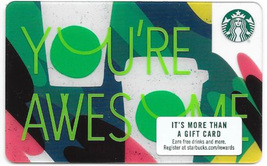 Starbucks 2018 You're Awesome Collectible Gift Card New No Value - $2.99