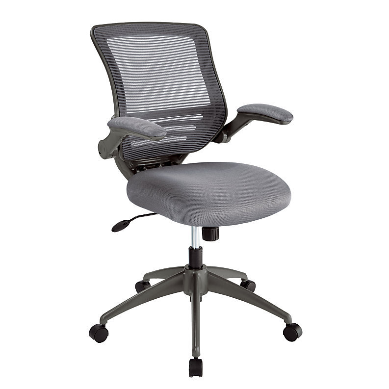 Realspace Calusa Mesh Mid Back Chair Silver And 16