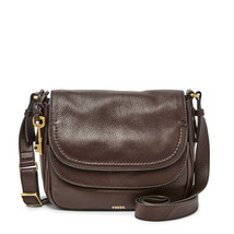 Fossil Peyton Cordovan Leather Magnetic Snap Large Double Flap Crossbody - $369.99