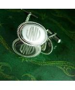 Monogrammed D Cufflinks Vintage Initialed Silver Tie Tack Set personaliz... - $125.00