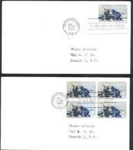 Civil War Centennial Gettysburg First Day Covers Single & Block of 4 Jul 1, 1963 - $2.99