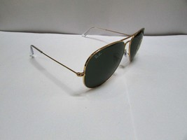 Ray-Ban Sunglasses AVIATOR 3026 L2846 Large Green Gold NEW BOX & 100% Or... - £77.83 GBP