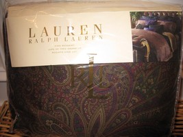 Ralph Lauren NEW BOHEMIAN purple Paisley King Bedskirt New - $87.25