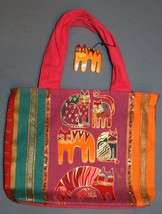 Laurel Burch Purse Cat Crazy Cat Lady Handbag Colorful Feline Pink Orang... - $28.70