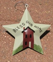 OR-216 Bless our Home Metal Star Christmas Ornament  - $1.95