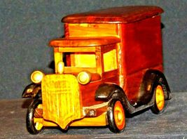 Wooden Toy Milk Truck AA19-1569 Vintage image 4