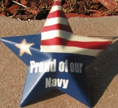 OR224 - Proud of our Navy - Metal Christmas Ornament - $1.95