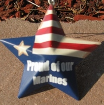 OR225 - Proud Marines - Metal Christmas Ornament  - $1.95
