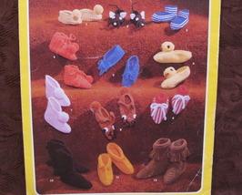 12 Crochet Knit Crocheting Knitting Patterns CHILDRENS Slippers MICE DUC... - $7.95
