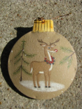 OR-517 Deer Ornament Metal Christmas Ornament  - $1.95