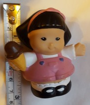 Fisher Price Little People SONYA LEE w/ Ice Cream Cone wearing pink dres... - $8.93