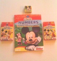 Disney Mickey Mouse Clubhouse Learning Workbook Game Cards Washcloth 4 P... - $16.95
