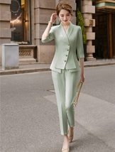 Women's High Quality Solid White Blazer Jacket Business Suit image 7